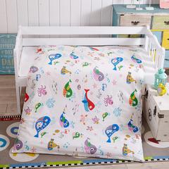 全棉13372幼童独版花系列可拆卸被子(被套+被芯) 被套+2斤棉花被芯 海洋世界