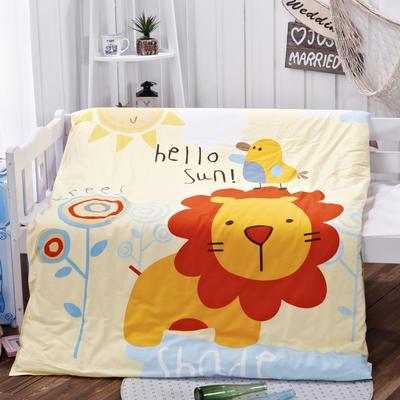 全棉活性13372幼童活性大版花可拆洗被子(被套+被芯) 单独被套+丝绵被芯 丛林狮子