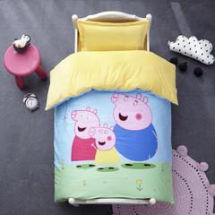 御棉坊棉加绒加厚保暖水晶绒幼儿园三件套被子婴童套件 单独被套+棉花双胆被芯 小猪宝贝
