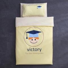 御棉坊全棉13372数码台板印花系列幼儿园套件 丝绵双胆款七件套 小博士