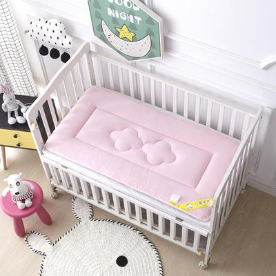 4D立体水晶绒幼童床垫 儿童床褥 幼儿园床垫 60X135cm 粉色