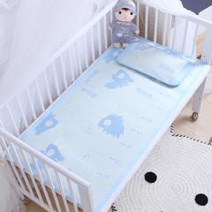 御棉坊    儿童凉席两件套 婴儿冰丝凉席幼儿园席子 60X120cm两件套 测量成长