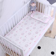 御棉坊    儿童凉席两件套 婴儿冰丝凉席幼儿园席子 70X150cm两件套 嘟嘟熊-粉