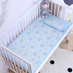 御棉坊    儿童凉席两件套 婴儿冰丝凉席幼儿园席子 56X100cm两件套 嘟嘟熊-蓝