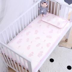 御棉坊    儿童凉席两件套 婴儿冰丝凉席幼儿园席子 56X100cm两件套 恐龙宝贝-粉