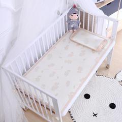 御棉坊    儿童凉席两件套 婴儿冰丝凉席幼儿园席子 60X135cm两件套 恐龙宝贝-金黄色