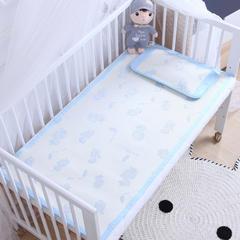 御棉坊    儿童凉席两件套 婴儿冰丝凉席幼儿园席子 70X150cm两件套 恐龙宝贝-蓝