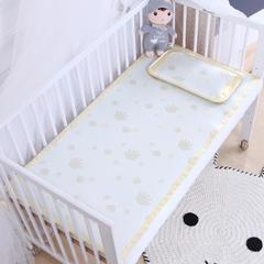 御棉坊    儿童凉席两件套 婴儿冰丝凉席幼儿园席子 25X45cm单枕头 小手-金黄色