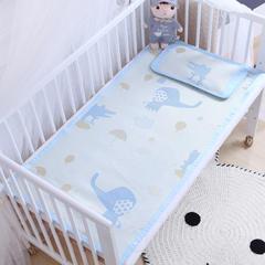 御棉坊    儿童凉席两件套 婴儿冰丝凉席幼儿园席子 60X120cm两件套 小象鳄鱼