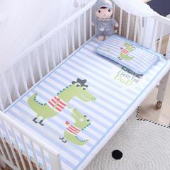 御棉坊    卡通大版儿童凉席两件套婴儿冰丝凉席幼儿园席子 60X120cm两件套 恐龙父子俩
