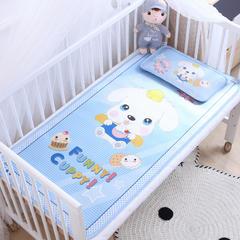 御棉坊    卡通大版儿童凉席两件套婴儿冰丝凉席幼儿园席子 60X120cm两件套 甜点狗狗