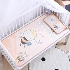 御棉坊    卡通大版儿童凉席两件套婴儿冰丝凉席幼儿园席子 60X135cm两件套 小蜜蜂