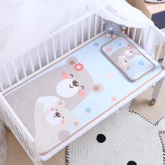 御棉坊    卡通大版儿童凉席两件套婴儿冰丝凉席幼儿园席子 80X150cm两件套 熊宝宝