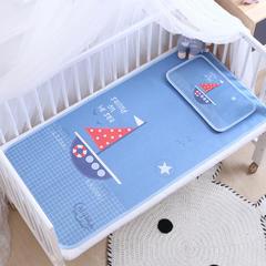 御棉坊    卡通大版儿童凉席两件套婴儿冰丝凉席幼儿园席子 60X135cm两件套 扬帆