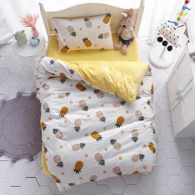 全棉+水晶绒儿童套件 中大童三件套系列 1.2m(4英尺)床 菠萝