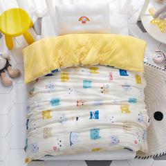 2018新款-(两用派)全棉+水晶绒幼儿园儿童单品被套 150X200cm 多彩猫