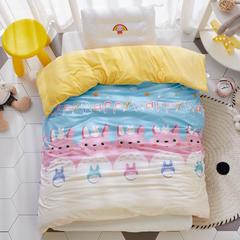 2018新款-(两用派)全棉+水晶绒幼儿园儿童单品被套 150X200cm 龙猫