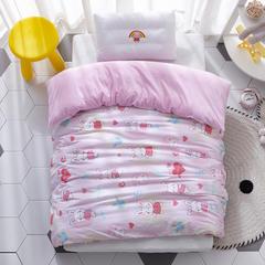 2018新款-(两用派)全棉+水晶绒幼儿园儿童单品被套 150X200cm 长耳兔