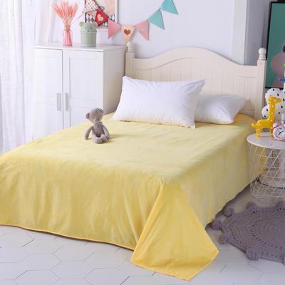2018新款-(两用派)全棉+水晶绒幼儿园儿童单品床单160X230cm 菠萝