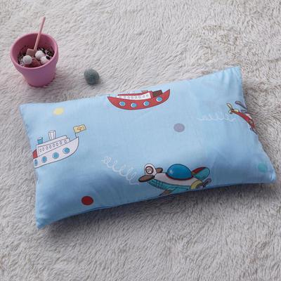 2018新款-(两用派)全棉+水晶绒幼儿园儿童单品枕套 48cmx74cm 飞机轮船