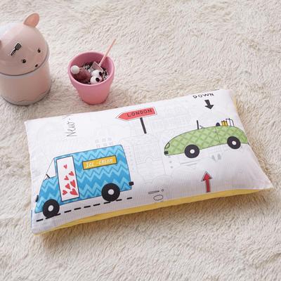 2018新款-(两用派)全棉+水晶绒幼儿园儿童单品枕套 48cmx74cm 汽车之旅