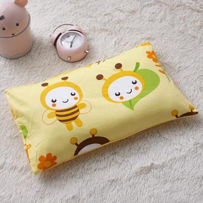 2018新款-(两用派)全棉+水晶绒幼儿园儿童单品枕套 48cmx74cm 勤劳的小蜜蜂