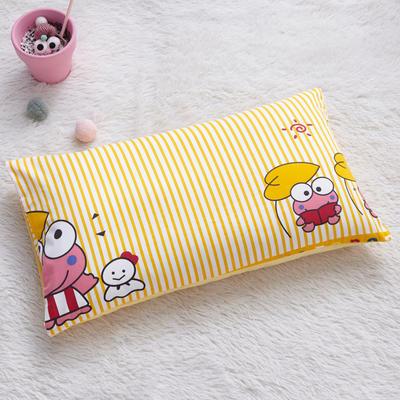 2018新款-(两用派)全棉+水晶绒幼儿园儿童单品枕套 48cmx74cm 三只小青蛙