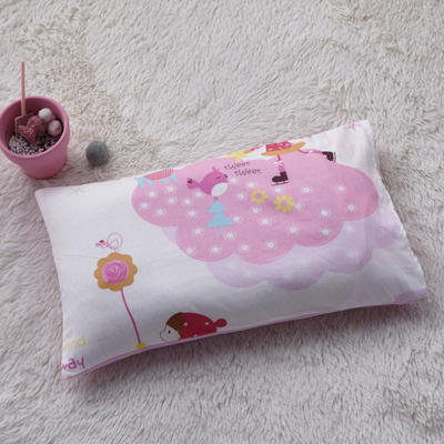 2018新款-(两用派)全棉+水晶绒幼儿园儿童单品枕套 48cmx74cm 甜美女孩