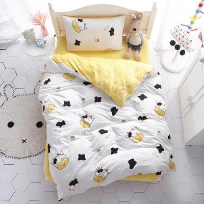 2018新款-(两用派)全棉+水晶绒幼儿园儿童单品枕套 48cmx74cm 小奶牛