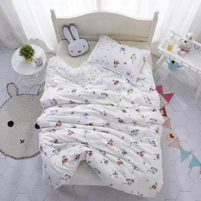 A类双层纱布儿童被套纯棉婴儿幼儿园宝宝被罩被子 100*130cm被套+1.5斤棉花被芯 狐狸兔子熊