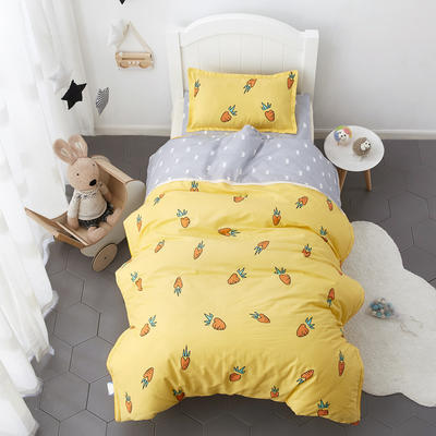 花边款拼接夹棉幼儿园儿童套件幼儿园被子三件套宝宝午睡六件套 丝绵款六件套 聪明萝卜