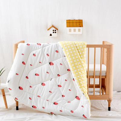 水洗棉被子 儿童被芯 春秋被 冬被 幼儿园被子 120X150cm   3.5斤 草莓甜心