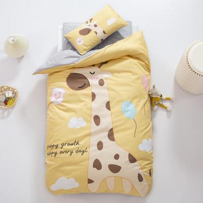A类全棉数码印花幼儿园儿童套件幼儿园被子三件套宝宝午睡六件套 三件套不含芯 安睡小鹿