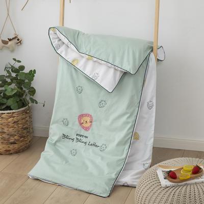 2020年全棉双面绣花儿童被套纯棉1.2x1.5婴儿宝宝被罩单人150x200 150*200cm单被套 草莓猫-绿