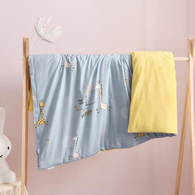 A棉B绒儿童被套单件1.2米多功能卡通幼儿园宝宝小被罩 120*150cm单被套 +2斤羽丝绒被 HAPPY小鹿-蓝
