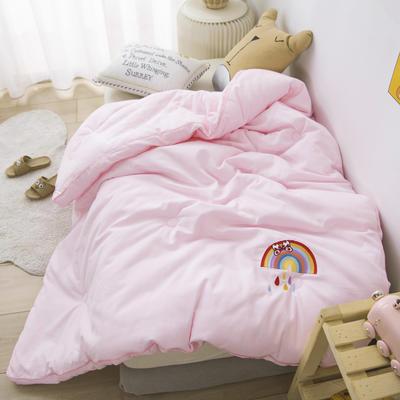 2020新款A类全棉磨毛幼儿园儿童冬被春秋被秋冬被芯卡通被子 150x200cm4.5斤 彩虹雨-粉