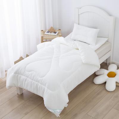 水洗棉幼儿园被芯三件套宝宝入园午睡被子三件套棉花被褥儿童被子 120*150cm(1斤)羽丝绒【被芯】 白色