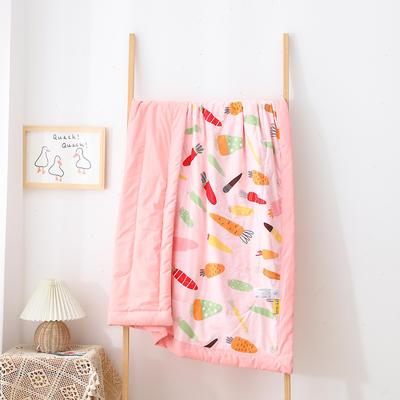 2021新款A类全棉水洗棉儿童夏被 幼儿园被子夏凉被空调被 150x200cm 好多萝卜