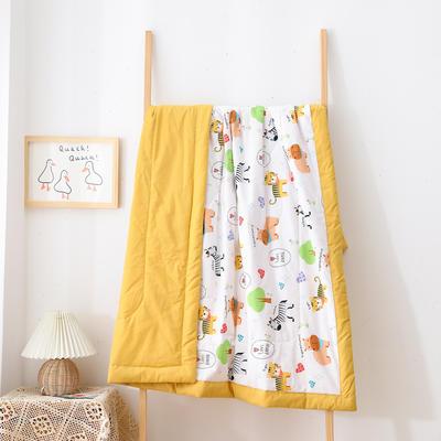 2021新款A类全棉水洗棉儿童夏被 幼儿园被子夏凉被空调被 150x200cm 猛小兽-米