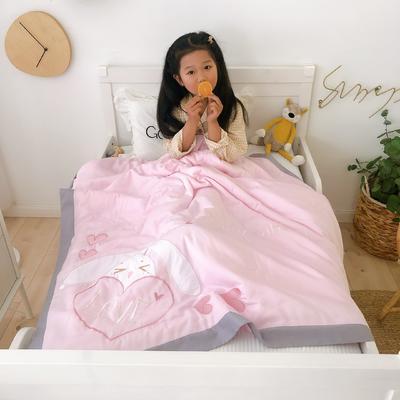莫代尔抗菌防螨绣花儿童夏被 幼儿园被子夏凉被空调被 120x150cm love-兔