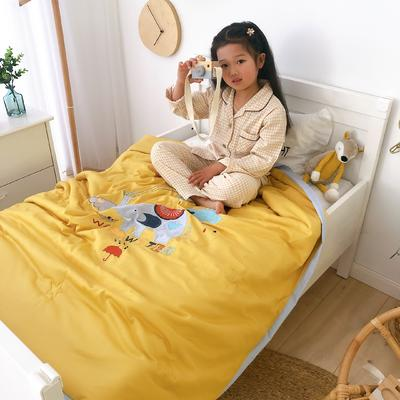 莫代尔抗菌防螨绣花儿童夏被 幼儿园被子夏凉被空调被 120x150cm 小象波西