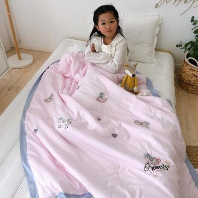 韩式A类60支全棉绣花儿童夏被 幼儿园被子夏凉被空调被 120x150cm 摇摇马
