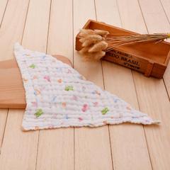 印花三角口水巾(40*40) 6层 1