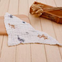印花三角口水巾(40*40) 6层 3
