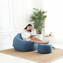 豆袋懒人沙发 中号(80*90 ) 牛仔蓝