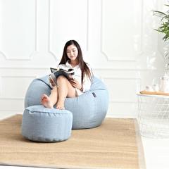 豆袋懒人沙发 中号(80*90 ) 天蓝