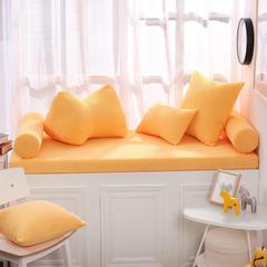 灯芯绒飘窗垫(总) 30x45cm( 腰靠 ) 黄色
