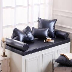 高档皮革飘窗垫(总) 30x45cm(  腰靠  ) 宝蓝金