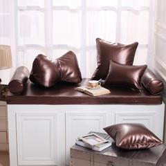 高档皮革飘窗垫(总) 30x45cm(  腰靠  ) 咖啡金