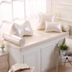 高档皮革飘窗垫(总) 30x45cm(  腰靠  ) 米白金